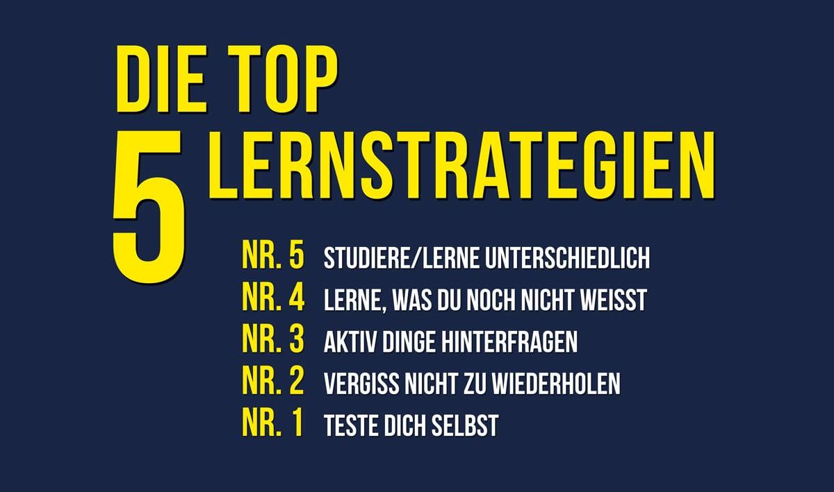 Die top 5 besten Lernstrategien