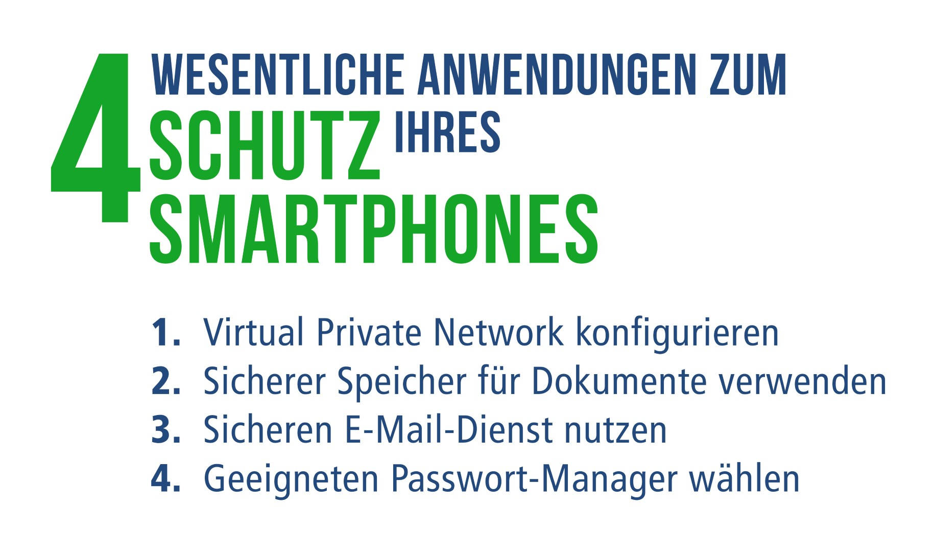 Vier wesentlichen Anwendungn zum Schutz ihres Smartphones